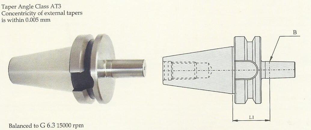 ARBOR BT50 J6 46.5 Drill Chuck Arbor