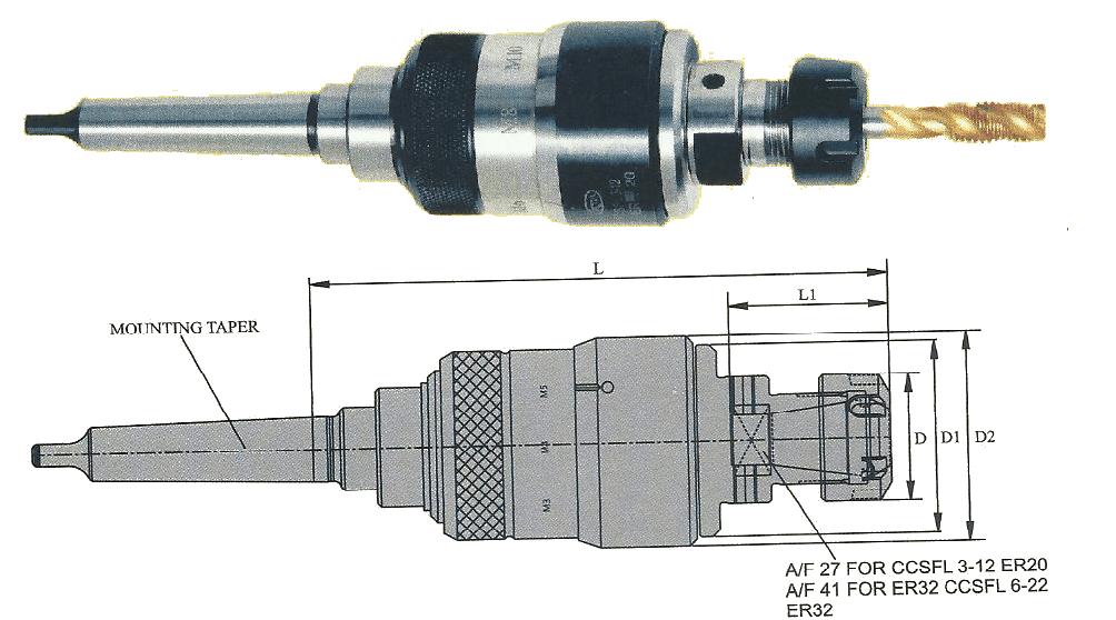 MT2B CCSFL 3-12 CCSFL/MORSE TAPPER