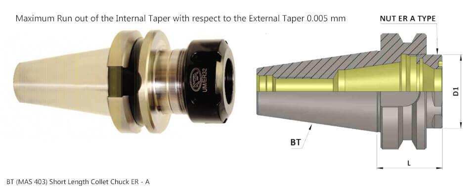 BT30 ER 25A 022 Collet Chuck (Balanced to G 6.3 15000 rpm) (DIN 6499)