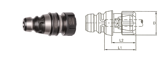 QCCCA2/ER16 Quick Change Collet Chuck Adapter suitable for ER Type Collets