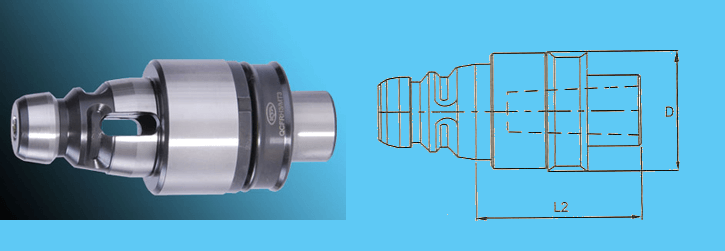 QCFRH3 MT3 Quick Change Floating Reamer Holder suitable for Reamers with self centering radial parallel float