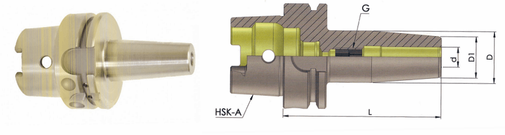 HSK-A 100 SFH14 160 Shrink Fit Holder (Balanced to G 2.5 25000 RPM)