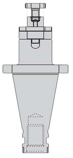 ISO50 CombiShell Mill Adapter(CSMA)