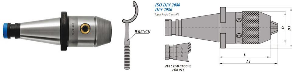 ISO40 NCDC113 88.5 AD Integral Drill Chuck