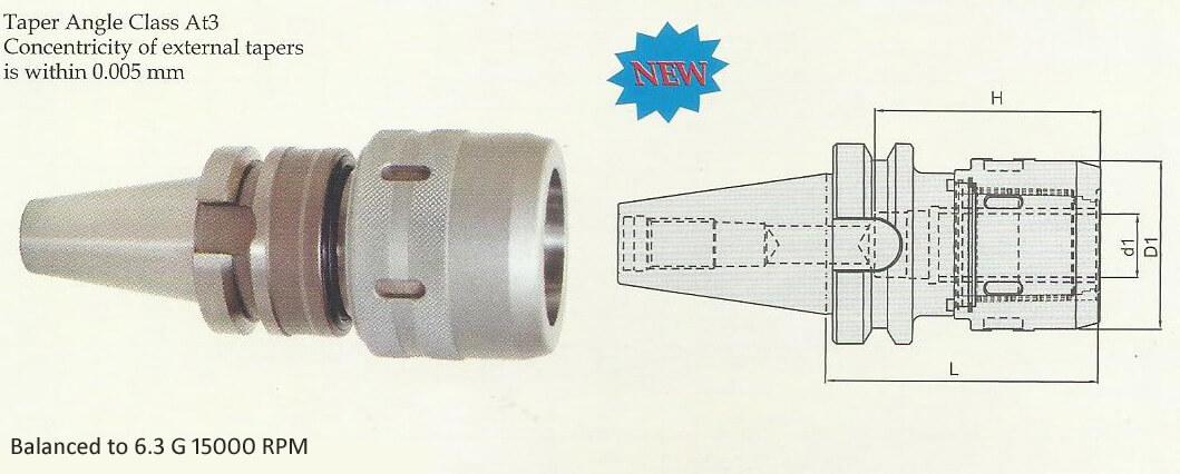 BT30 C 20075 Power Milling Chuck (Balanced to G 6.3 15000 rpm)