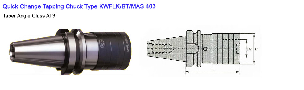 BT40 KWFLK1 67.5 TAPPING ATTACHMENT