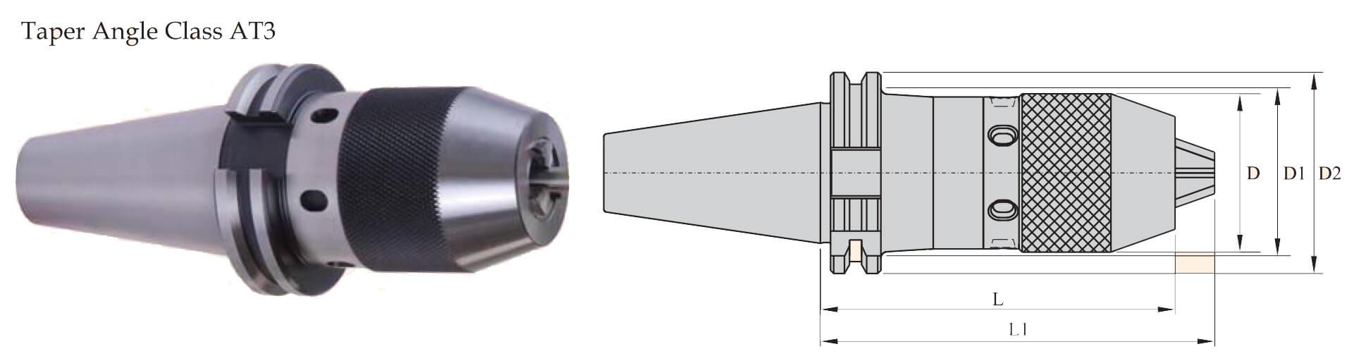 SK40 NCDC113 112 Integral Drill Chuck