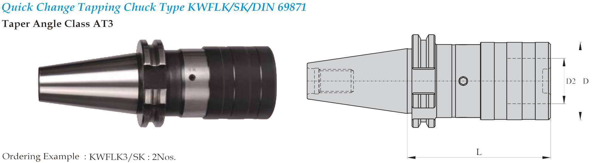 SK50 KWFLK3 139 TAPPING ATTACHMENT