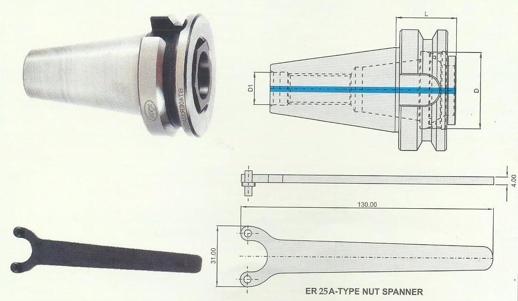 BT40 ER 32A 32 Short Length ER Chuck