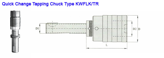 TR48 KWFLK3 Quick Change Tapping Attachment