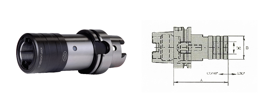 HSK-A63 KWFLK2 119 TAPPING ATTACHMENT