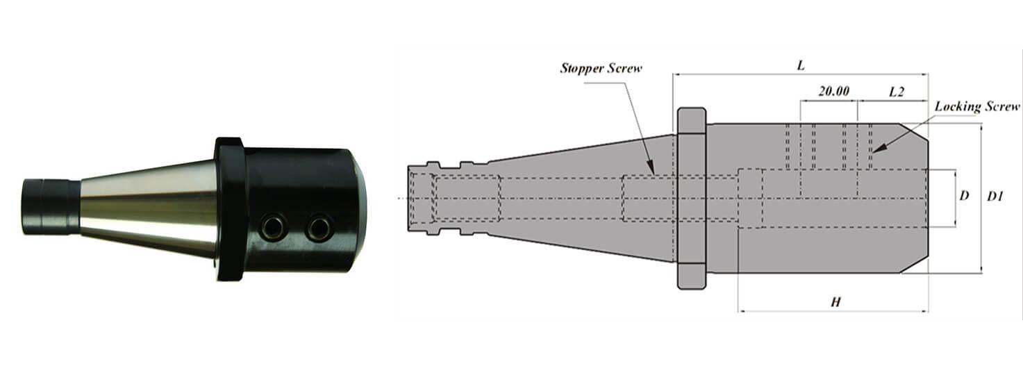 ISO40 SLA20 090 AD Side Lock Holder
